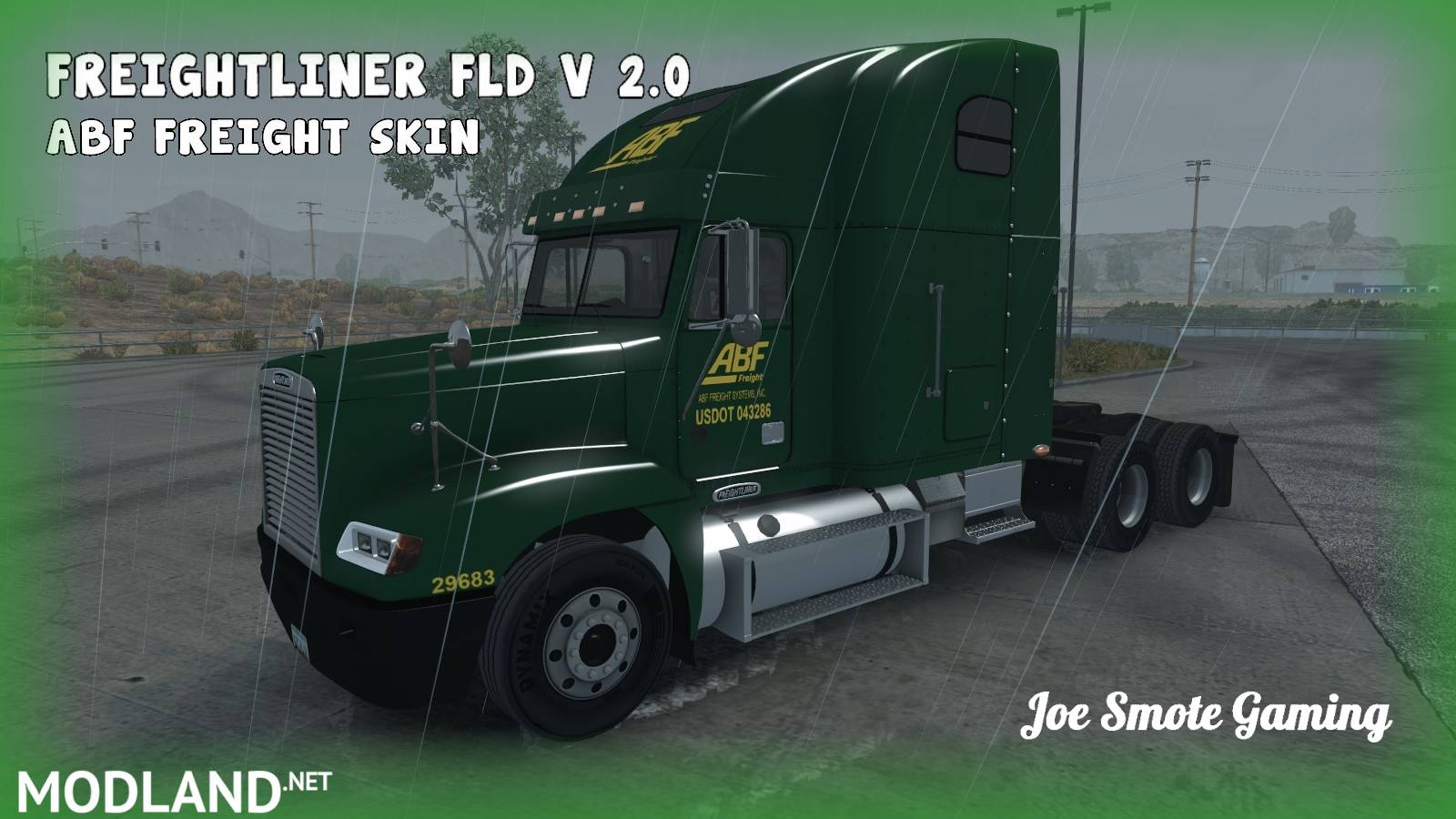 ABF Freight Skin For Freightliner FLD v 2.0 (ATS 1.30x), ...