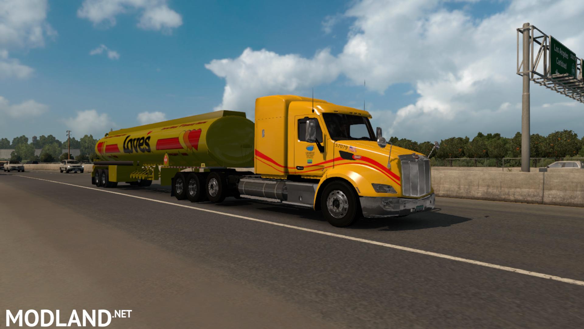 Loves skin pack for (SCS) trucks mod for American Truck