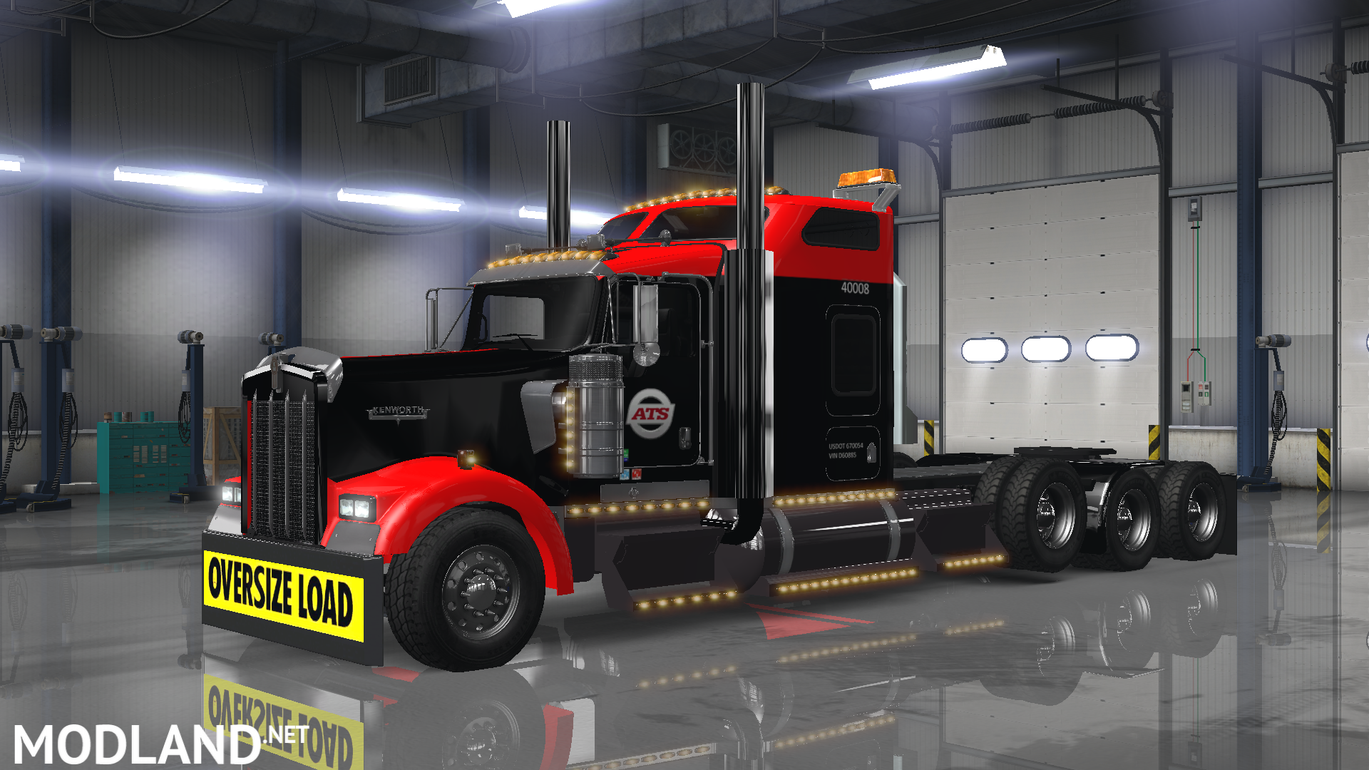 Kenworth W900 Anderson Trucking Service Skin Mod For