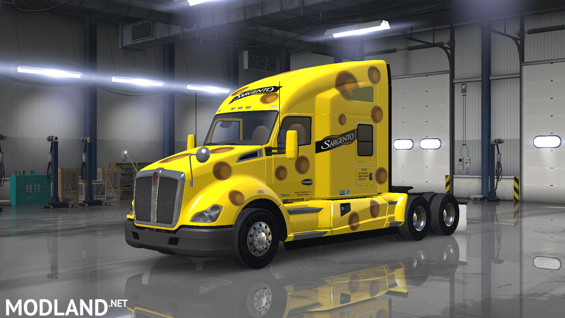 Kenworth t680 sargento cheese transportation skin mod for American Truck Simulator, ATS