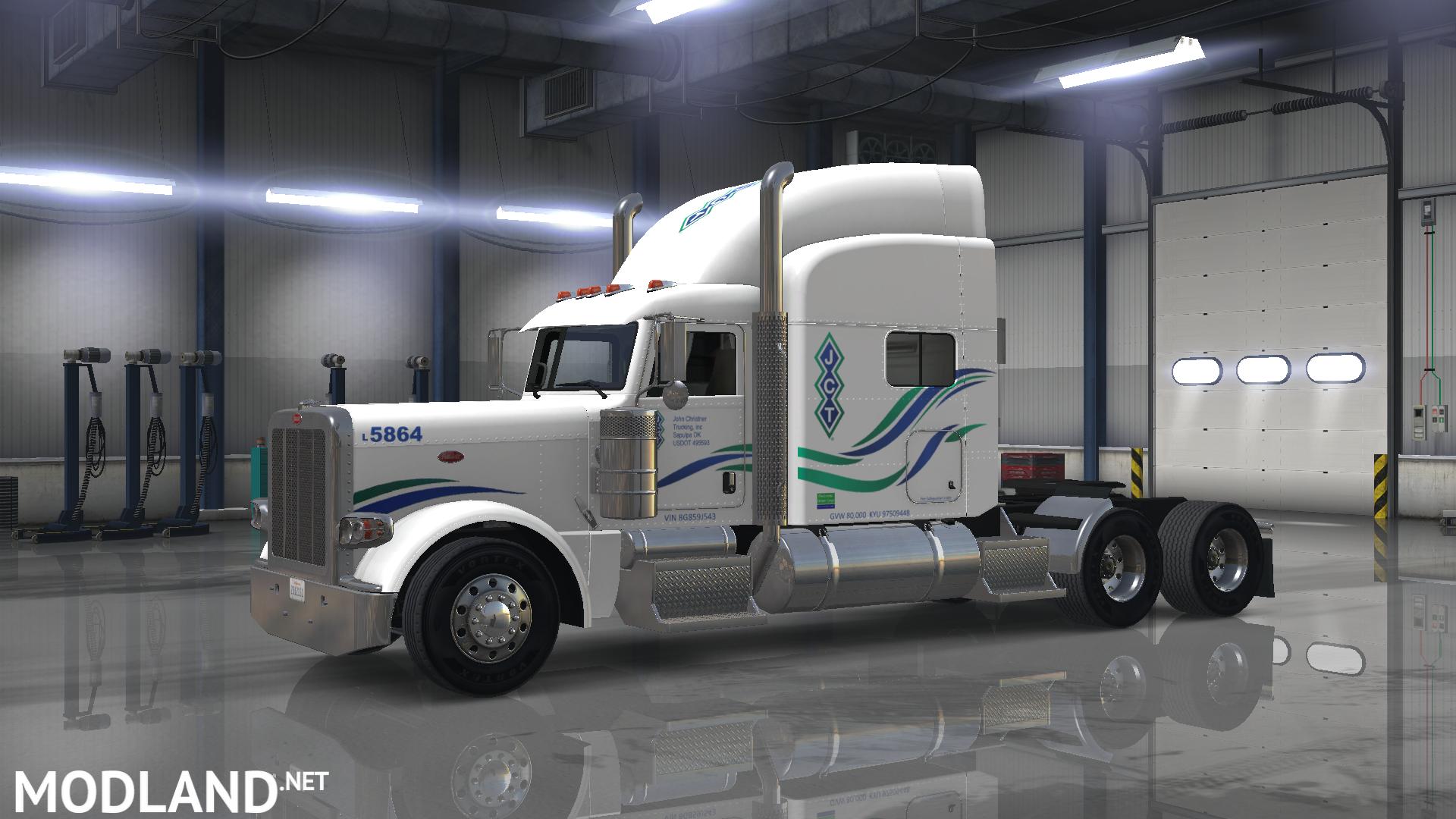 peterbilt 389 (SCS) john christner trucking skin mod for