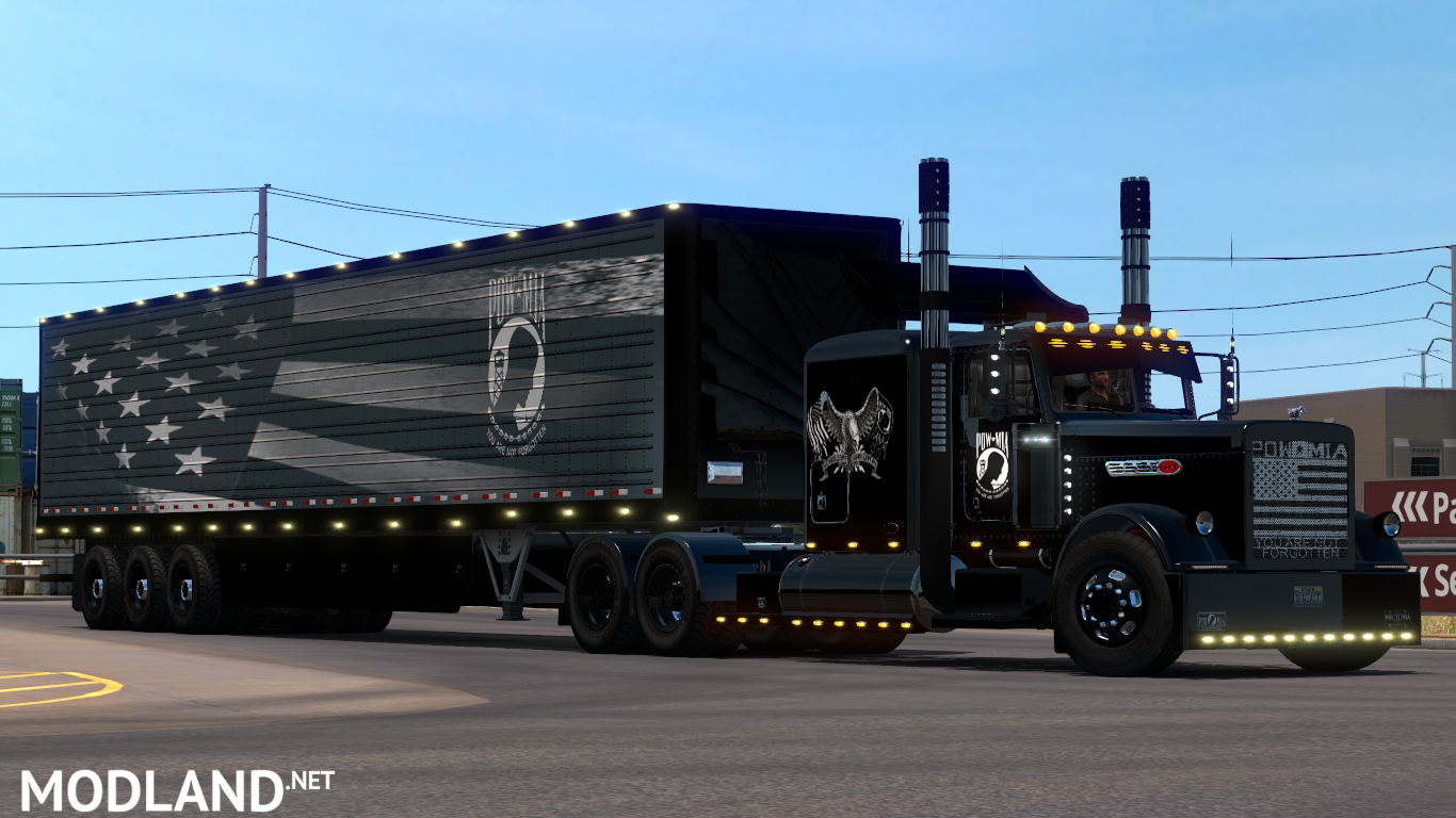POW MIA Peterbilt Skins + trailer skin (viper2 & Outlaws