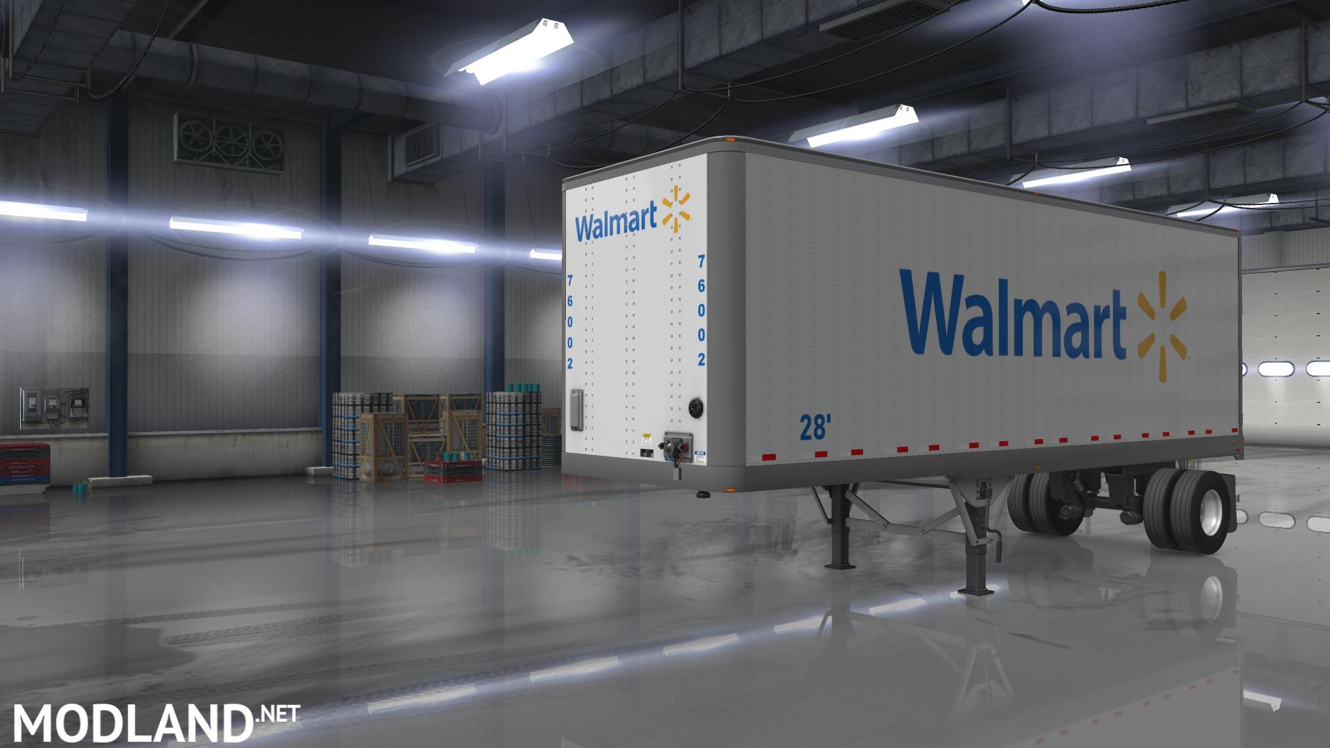 Walmart & sam's club own trailer skin mod for American Truck