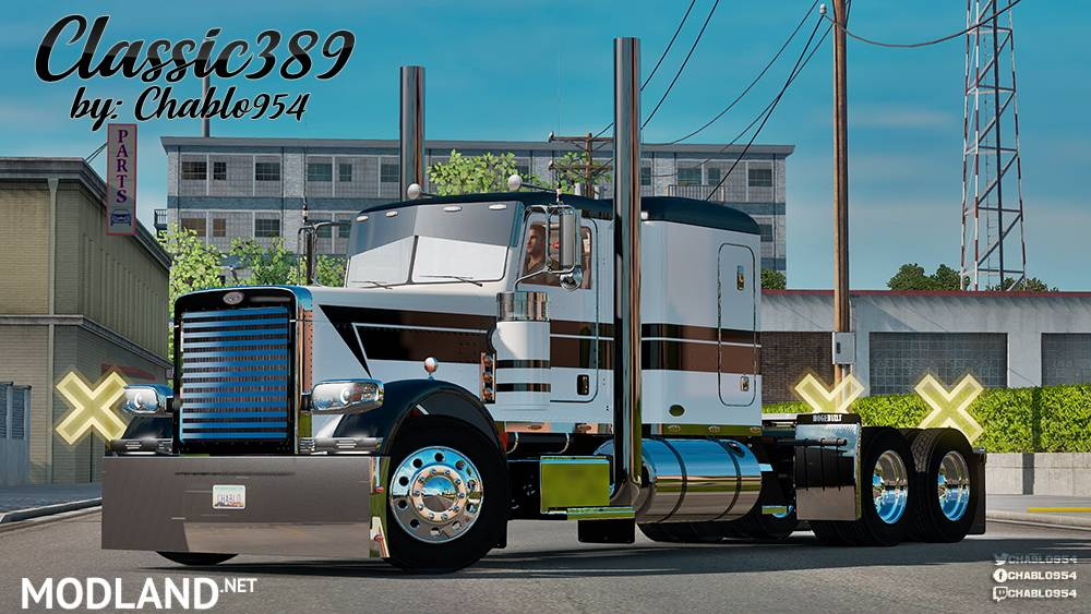 Classic 389 v2 Flat Top Sleeper Skin mod for American Truck