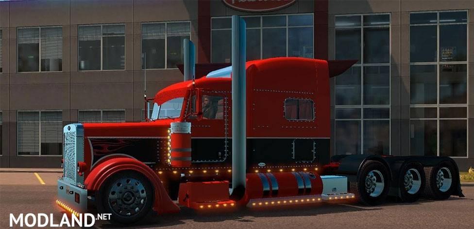 Custom Pete 389 Skin Mod For American Truck Simulator  Ats
