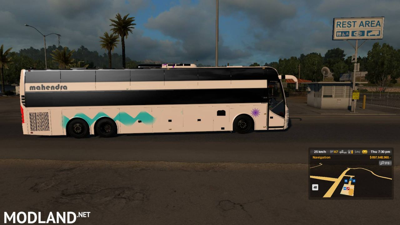 Indian sleeper coach Volvo bus skin dbmx