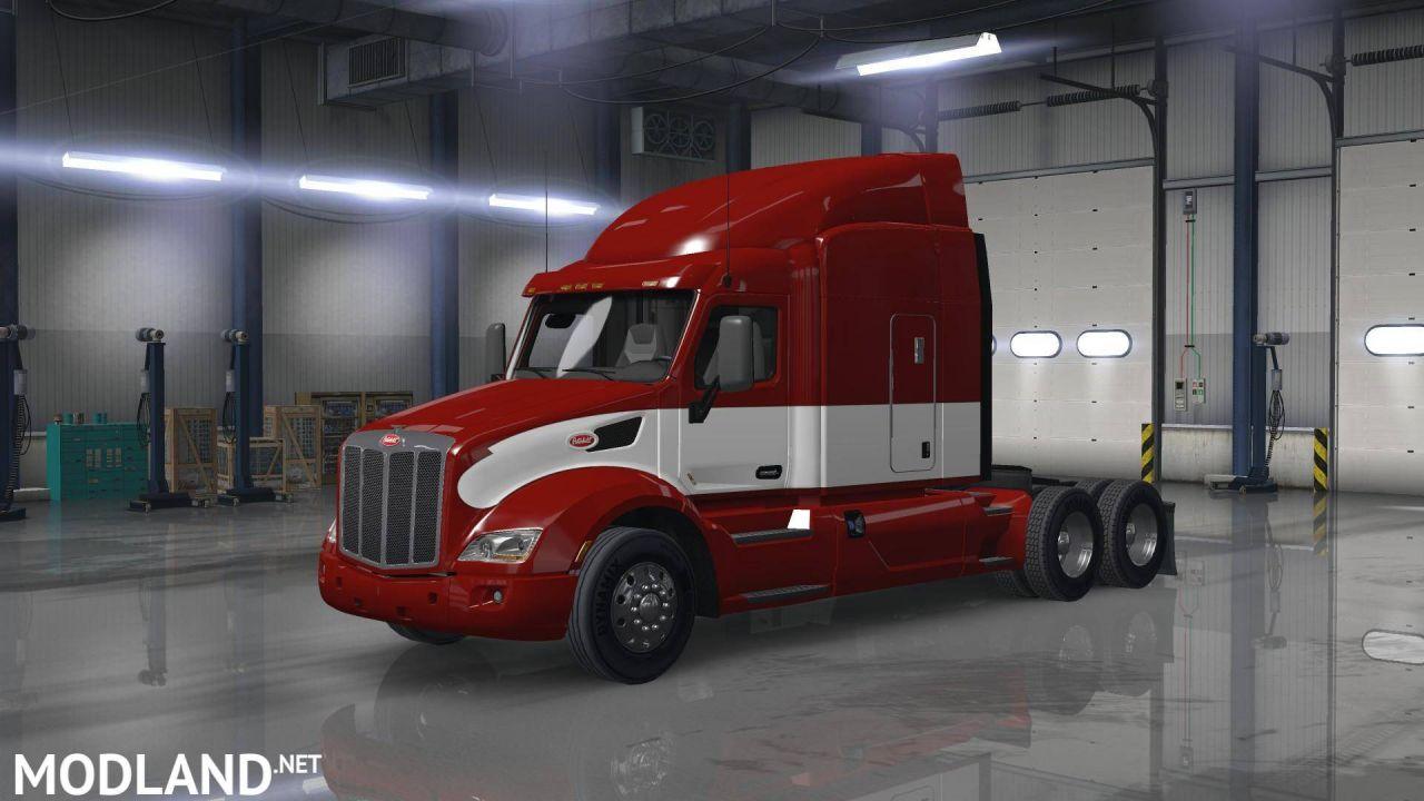 PETERBILT 579 RED/WHITE SKIN
