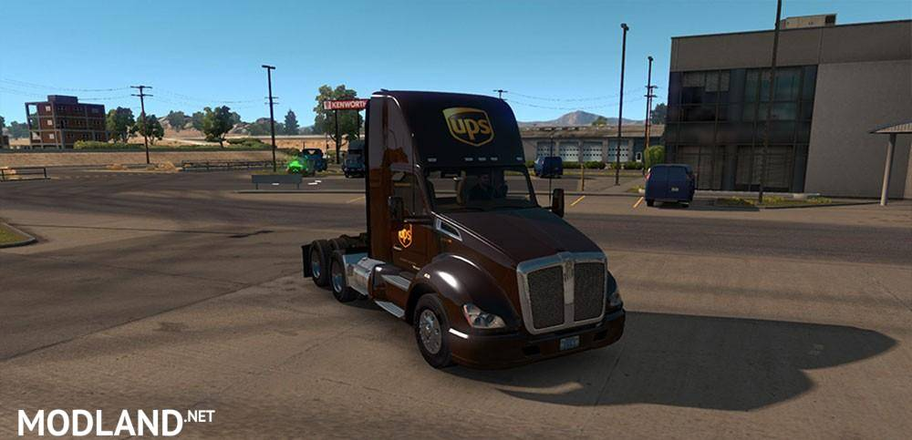 UPS Skin for Day cab Kenworth 680