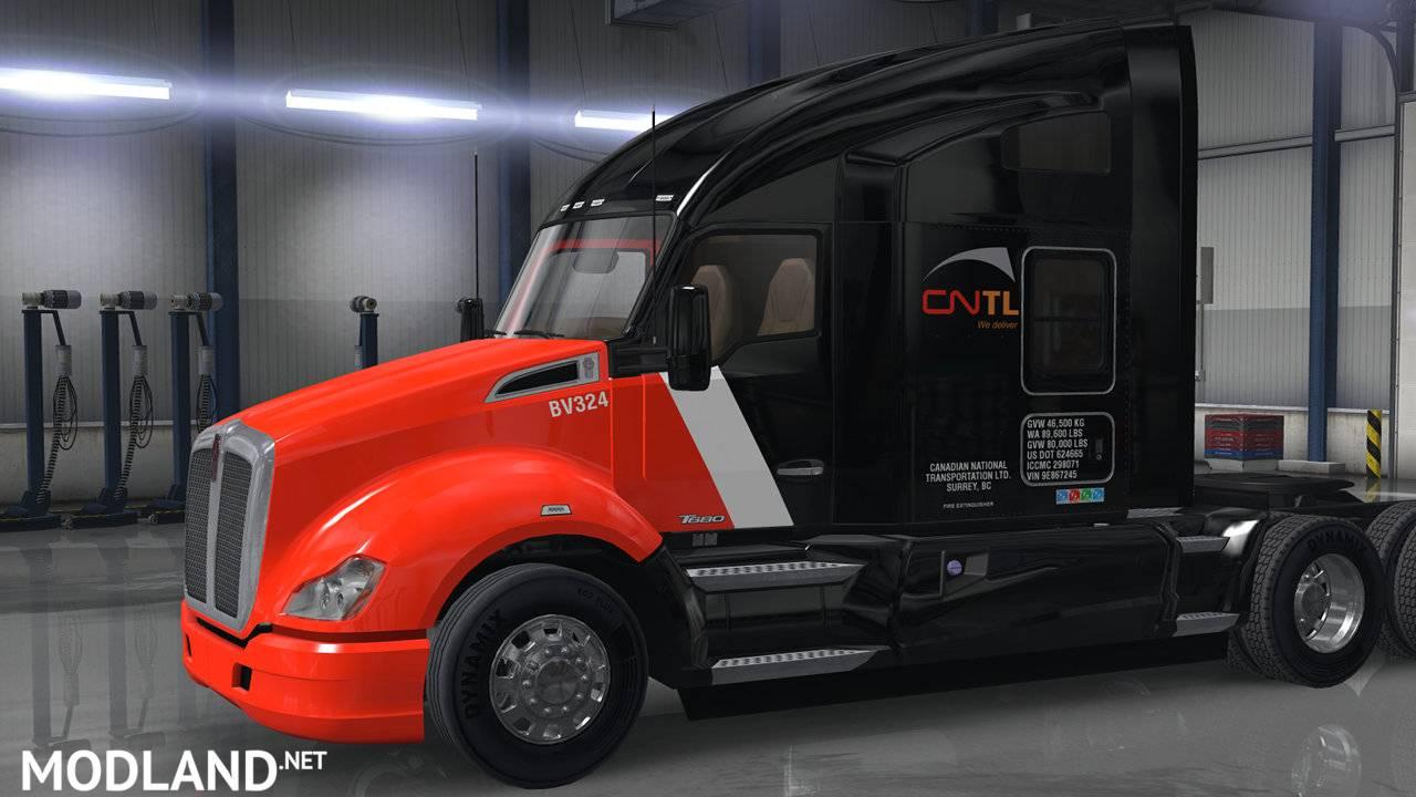 CN Transportation skins for default trucks mod for American Truck Simulator, ATS