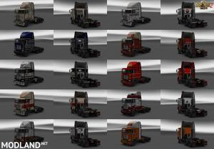 Dirty Skins Pack for Freightliner FLB ATS