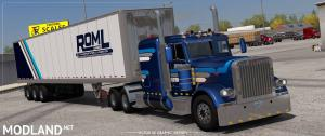 ROML Cargo Logistics Peterbilt 389 and Owned Trailers Skinpack