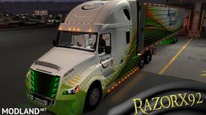 Freightliner Inspiration Skin with matching OWNED Trailer, 2 photo