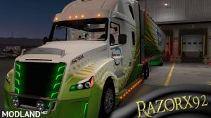 Freightliner Inspiration Skin with matching OWNED Trailer, 1 photo