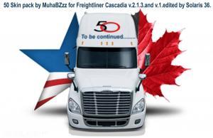 50 Skin Pack for Freightliner Cascadia V2.1.3 , 1 photo