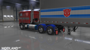 """Optimus Prime"" for Overfloater's Kenworth K100E by Araym, 4 photo"