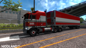 """BJ and The Bear"" truck skin for Kenworth K100E by Araym, 1 photo"