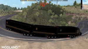Knight Rider skin for C.A.M.s Bellydeck trailers. ATS 1.37, 3 photo