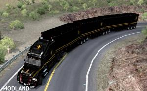 Knight Rider skin for C.A.M.s Bellydeck trailers. ATS 1.37, 4 photo