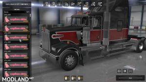 Skin pack 03 for Kenworth W900 by Edison [ATS 1.36.x], 2 photo
