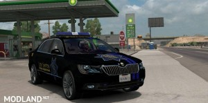 Skoda Superb Los Santos Police Department Skin, 1 photo