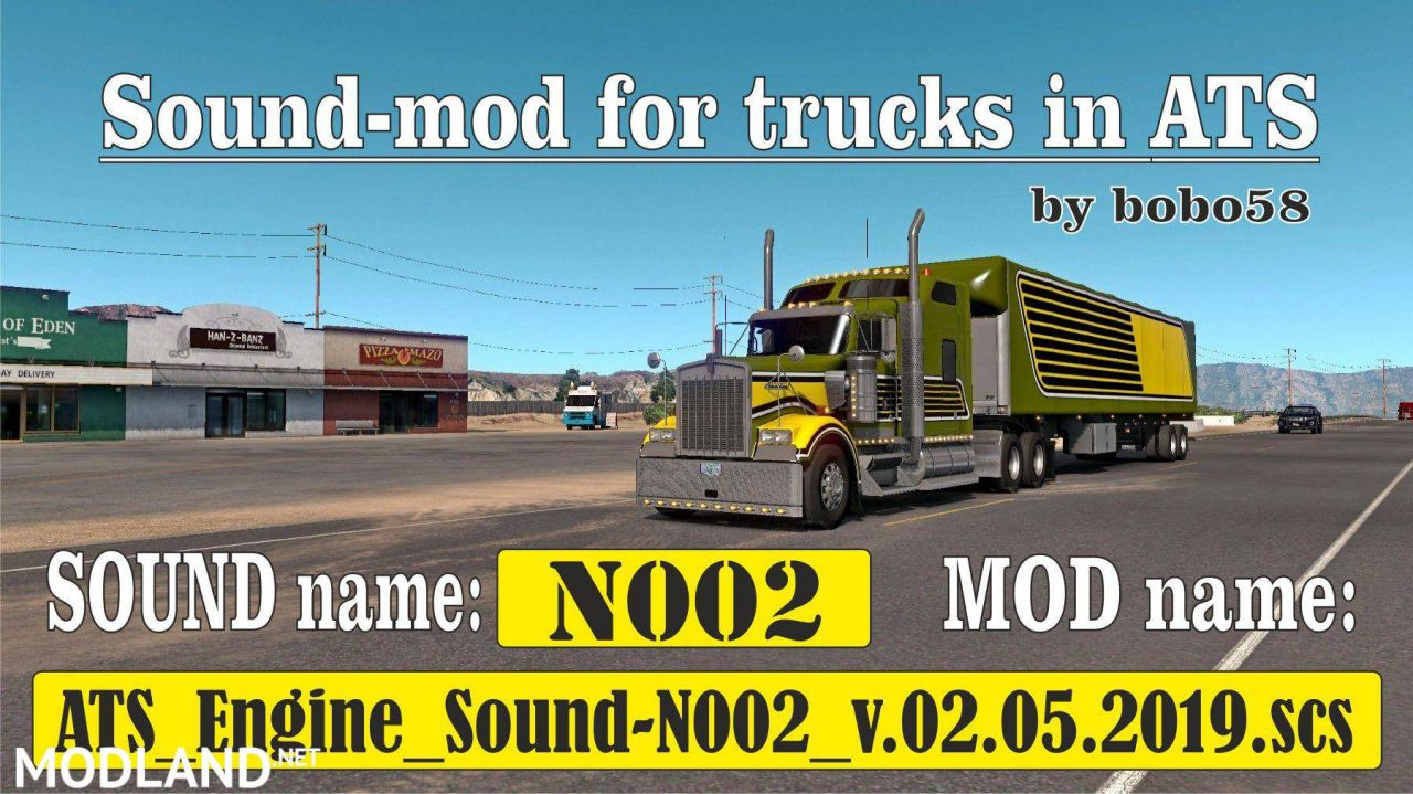 Sound mod for engine in ATS 1.34.x