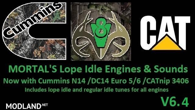 MORTAL'S Lope Idle Engines & Sounds v 6.4 ATS & ETS2