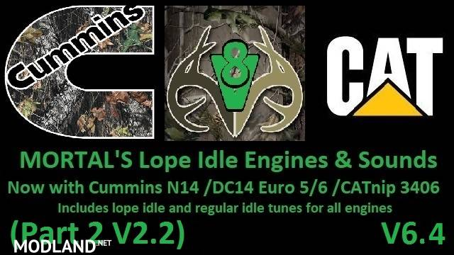 MORTAL'S Engines & Sounds V6.4 PART 2 V2.2 ATS & ETS2
