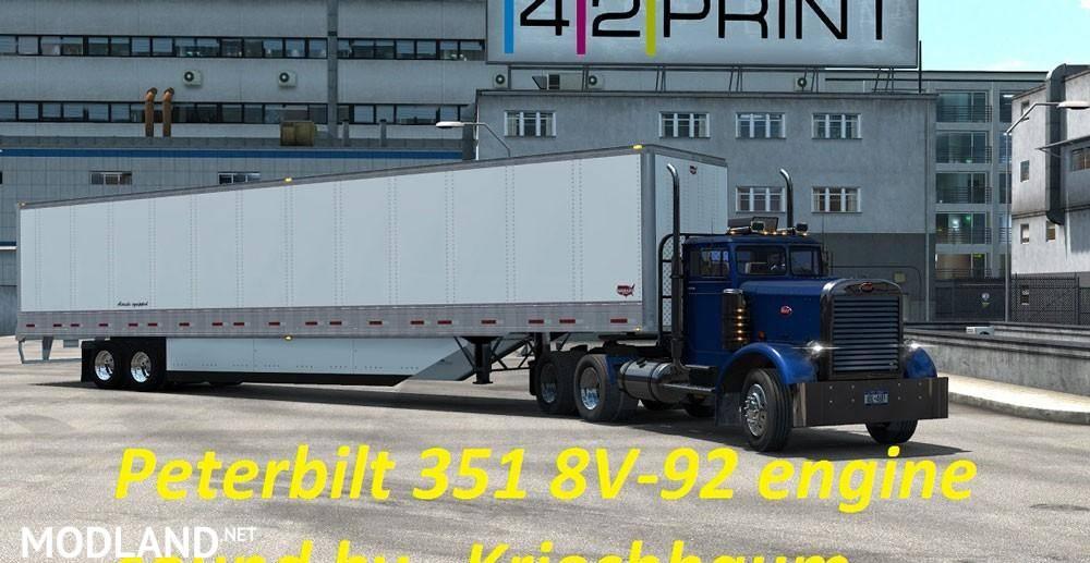 Detroit Diesel 8V-92 Engine Sound mod for Peterbilt 351
