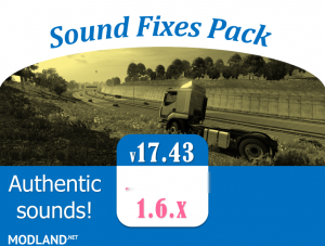 Sound Fixes Pack v 17.43 - ATS , 1 photo