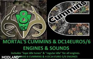 MORTAL'S Cummins & DC EURO Engines & Sounds V5.0 FOR ATS, 1 photo