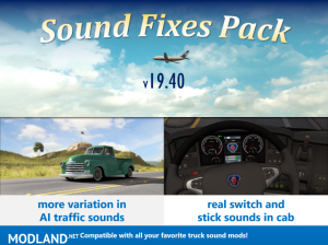 Sound Fixes Pack v19.40.1 ATS 1.36, 1 photo