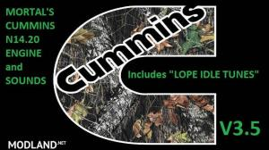 """MORTAL'S Cummins N14 Engines & Sounds With """"LOPE IDLE TUNE"""" v 3.5, 1 photo"""