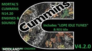 "MORTAL'S Cummins N14 Engines & Sounds With ""LOPE IDLE TUNE"" V4.2.0"