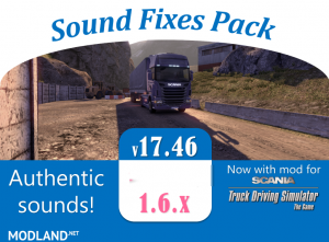 Sound Fixes Pack v 17.46 - ATS, 1 photo