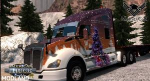 Whitewood Christmas 2019 Kenworth T680 skin, 1 photo