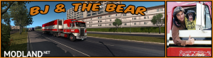 BJ and The Bear truck skin for Kenworth K100E and trailer - External Download image