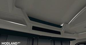 Kenworth T680 White Orange Interior