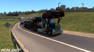 Kenworth W900 Auto Transport Variant + Trailer (ATS 1.35), 1 photo