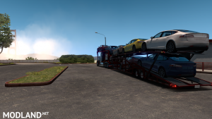 Kenworth W900 Auto Transport Variant + Trailer (ATS 1.35), 3 photo