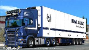 ROML Cargo RJL's Scania R 6-series and Ekeri trailers Deluxe Edition Skinpack v 1.1