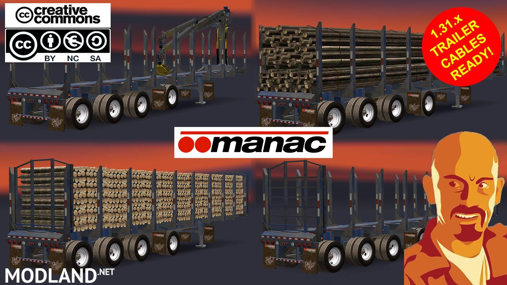 MANAC 4 AXIS LOG TRAILER ATS mod for American Truck