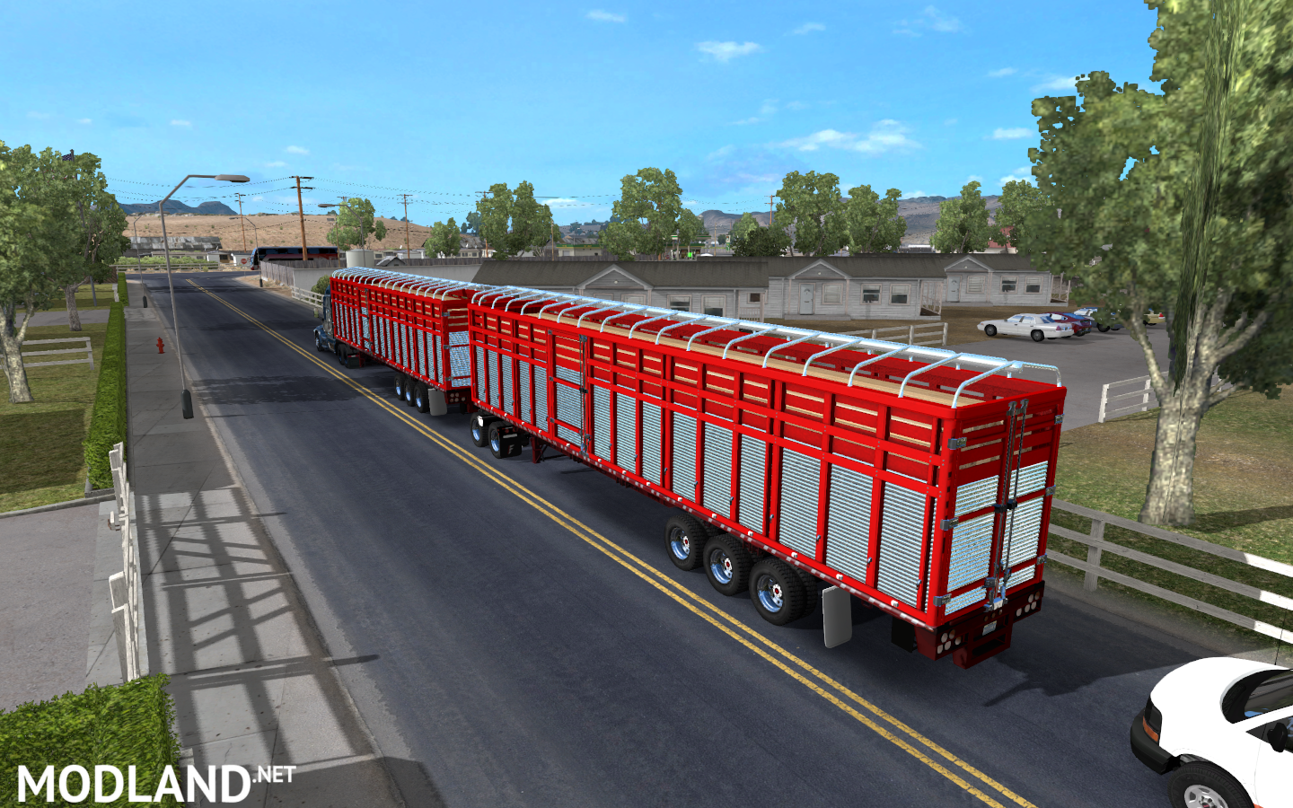 Pack double trailers for ATS mod for American Truck