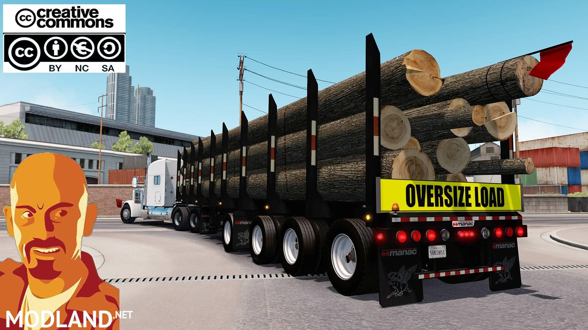 MANAC 4 AXIS LOG TRAILER ATS mod for American Truck Simulator, ATS