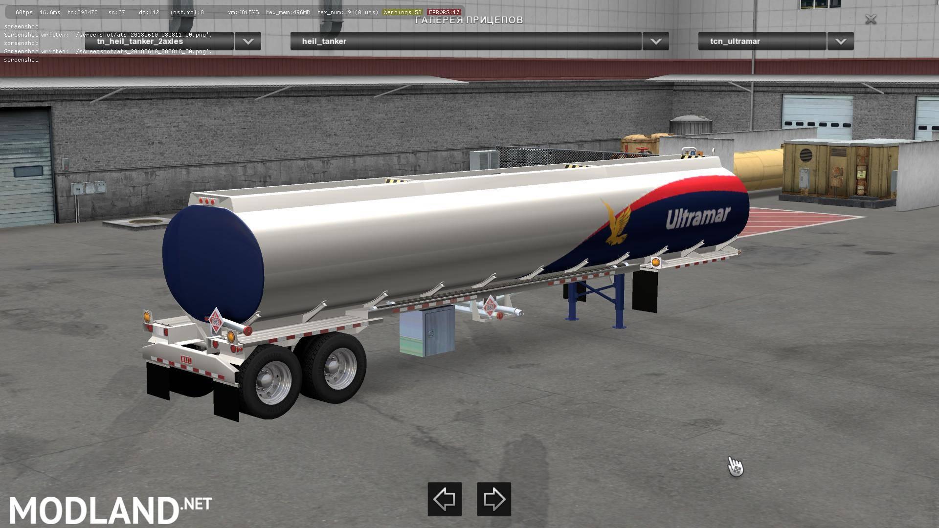 Heil Tanker Trailer 2axles v 1 31 mod for American Truck