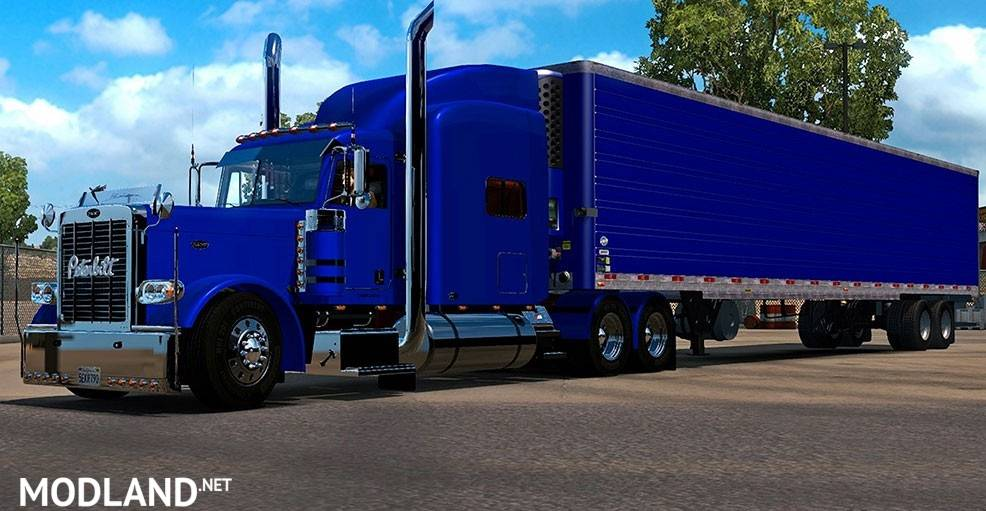 New Long Animation Blue Reefer Trailer Mod For American