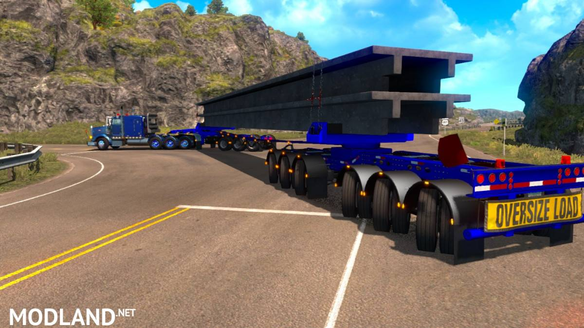 Oversize Owned Dolly Trailer (9 axles with steer axles) mod for