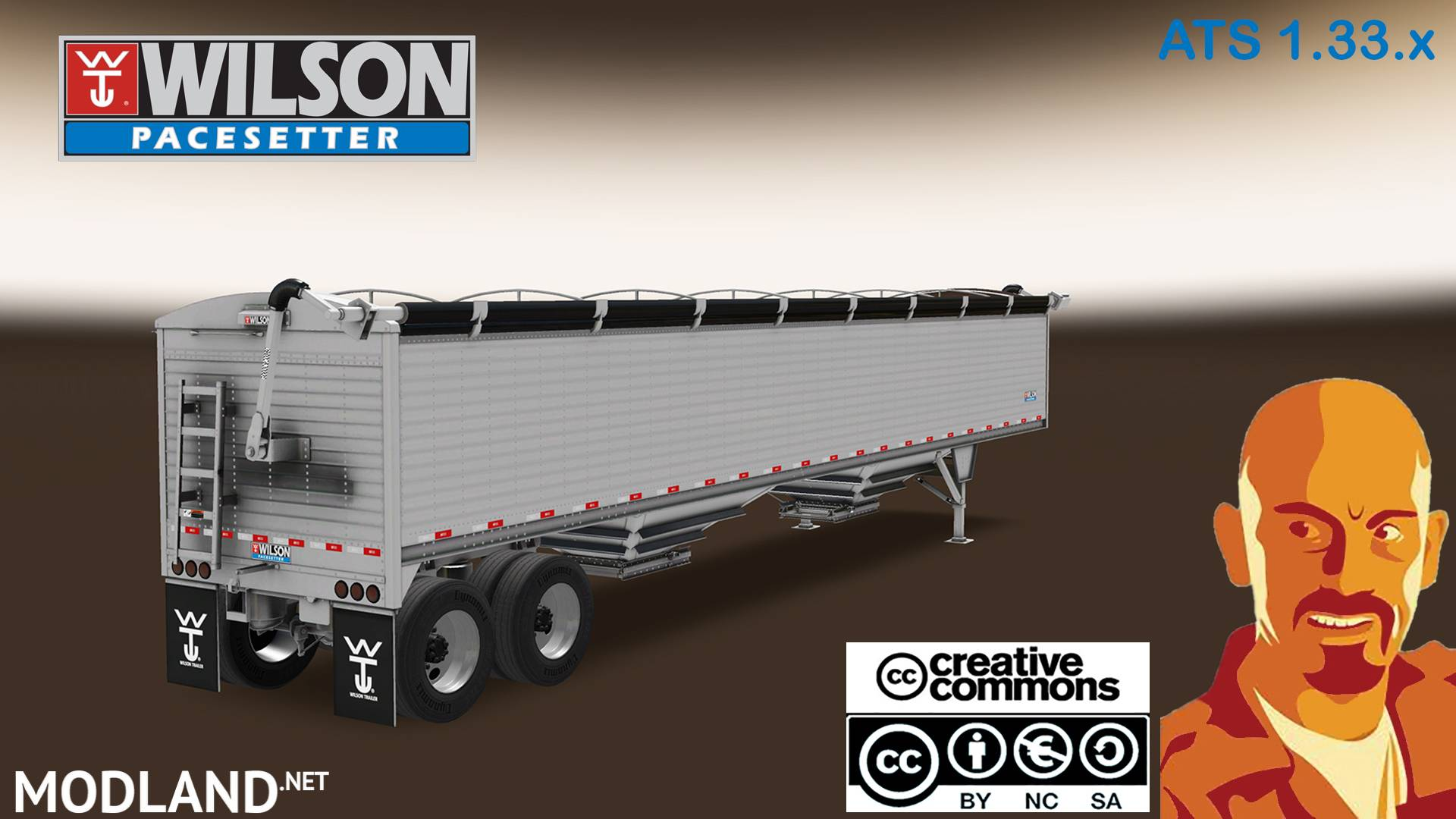 WILSON PACESETTER TRAILER ATS 1 33 x mod for American Truck
