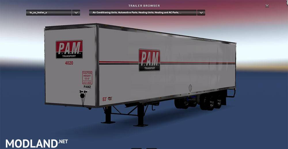 Dc Pam Trailer For Ats Mod For American Truck Simulator Ats