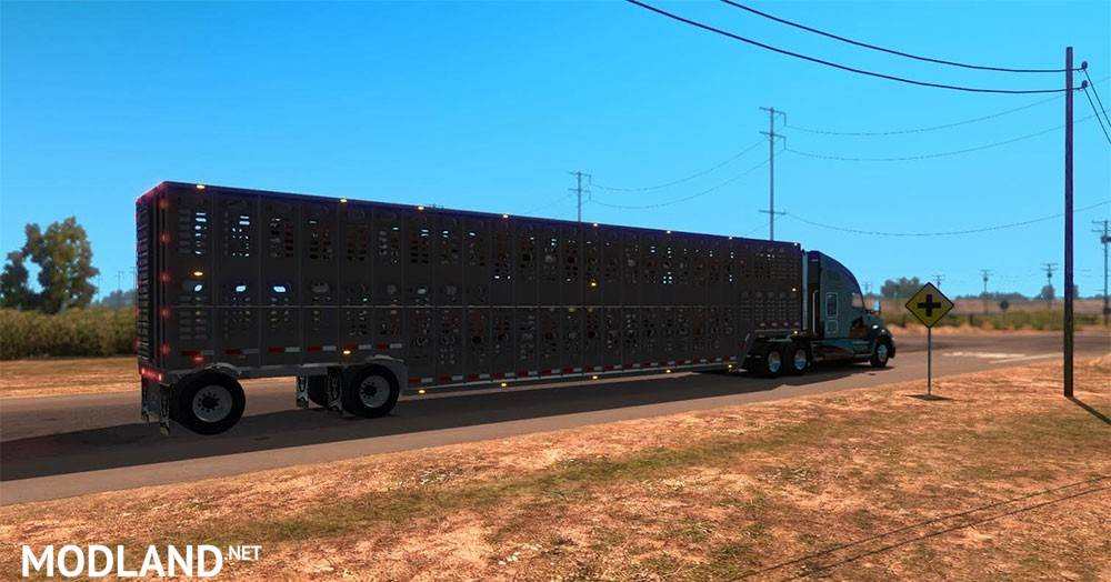 Wilson Livestock Multi Axle Trailer mod for American Truck Simulator ...