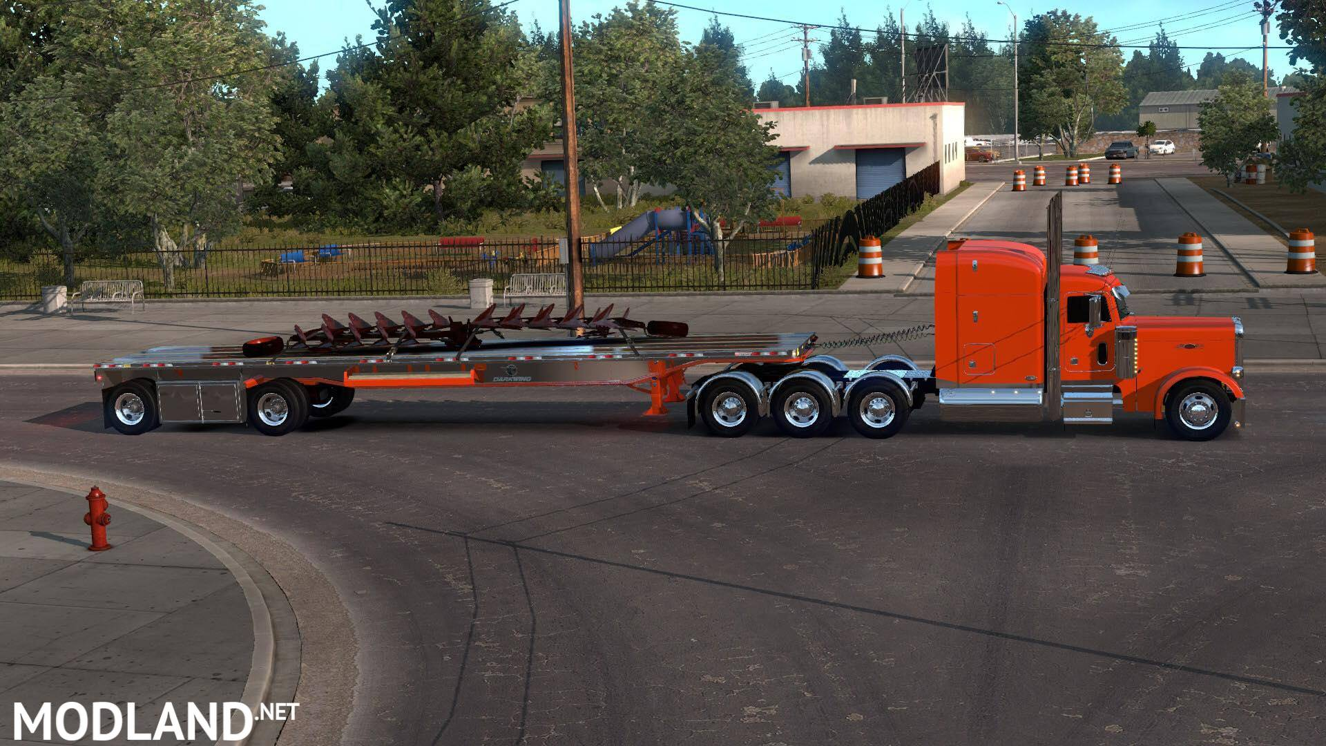 Manac Darkwing Flatbed Ownable 1 33, 1 34 x mod for American Truck
